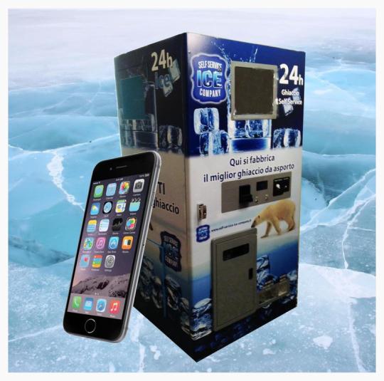 Distributore Self Service di ghiaccio